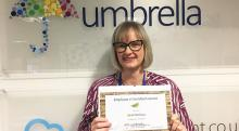 Congratulations to Sarah McClean on winning the Umbrella Group Employee of the Month Award