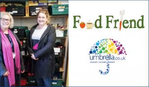 Umbrella.co.uk staff support Food Friend Wilmslow