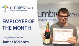 James McInnes Umbrella May Employee of the Month