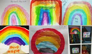 Umbrella.co.uk youngsters have been displaying rainbows in the windows of their homes during the coronavirus outbreak.