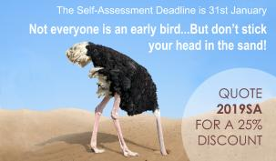 Not everyone is a self-assessment early bird! But don't stick your head in the sand, it's not too late to get help with your self-assessment