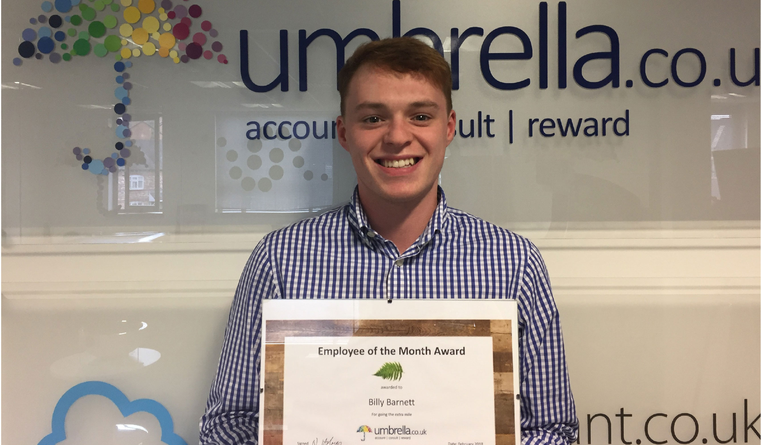 Billy Barnett Wins Umbrella.co.uk February Employee of the Month