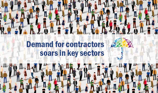 Demand for contractors soars in key sectors