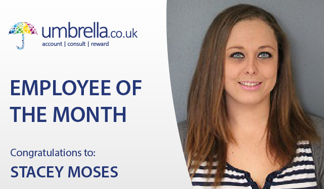 Congratulations to Stacey Moses who wins Umbrella.co.uk employee of the month