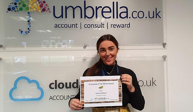 Umbrella.co.uk September Employee of the Month