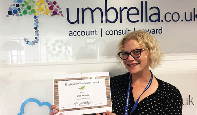 Congratulations to Suzi Kinsella on winning May Employee of the Month