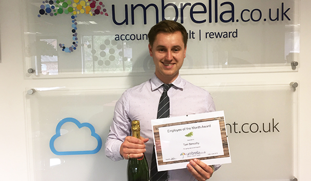 Tom Bescoby Wins June Umbrella.co.uk Employee of the Month