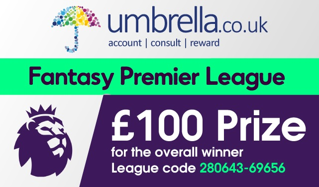 Umbrella.co.uk Agency Fantasy Football League Update
